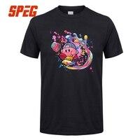 Кирби является истинным художник игры для взрослых Футболка Предварительно хлопок короткий рукав Футболка Горячая Для мужчин футболка с п...