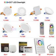 6W/9W/12W/15W/18W RGB+CCT LED Downlight Dimmable Ceiling Spotlight AC110V 220V FUT063/FUT066/FUT068/FUT069/B8/iBox1