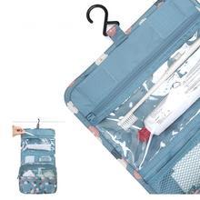 Duvar asılı yeni seyahat makyaj kozmetik çantası çantası kadın makyaj çantası asılı tuvalet seyahat kiti takı organizatör kozmetik durumda