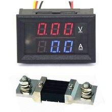 Цифровой светодиодный вольтметр, амперметр постоянного тока 0-300 в а с шунтовой панелью, вольтметр, амперметр