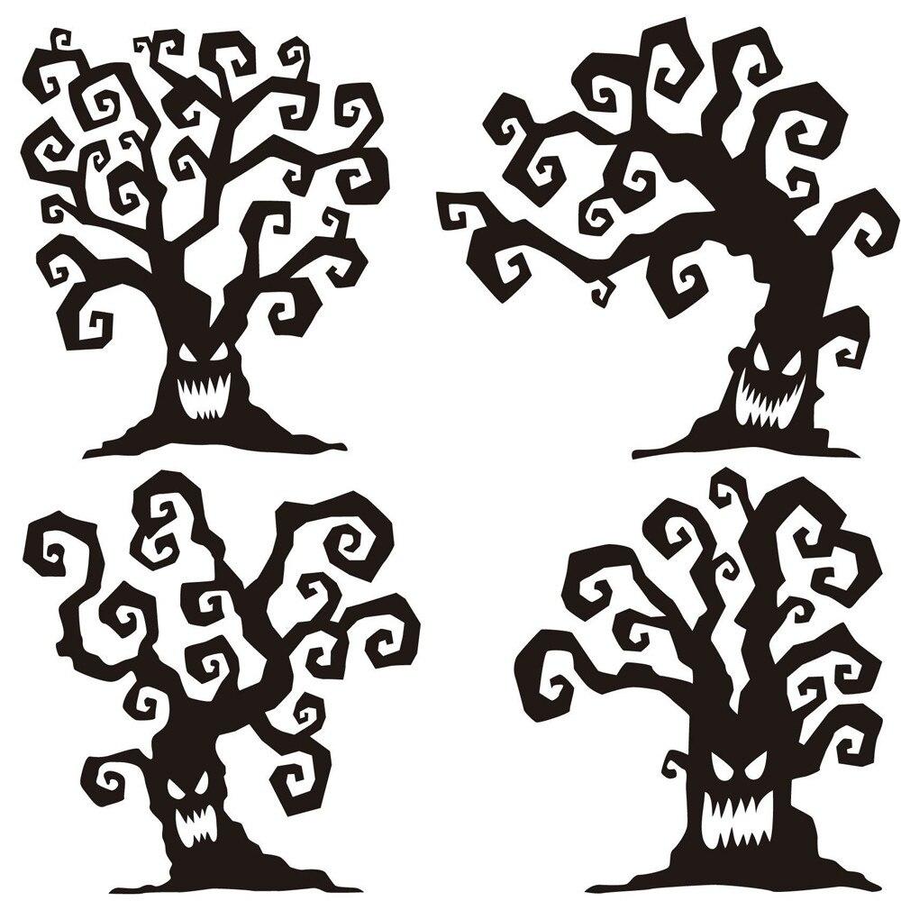 Popular Halloween Tree Wall Art-Buy Cheap Halloween Tree Wall Art ...