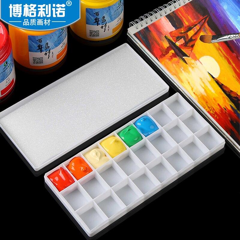 24/25/36Grids Plastic Watercolor Paint Palette Professional Watercolor/Gouache/Acrylic Painting Palette Artist Supplies