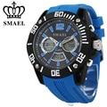 SMAEL Brand Watches Men 30M Waterproof Dual Display Wristwatch Big Dial LED Digital Quartz Watch Sport relogios masculino WS1035