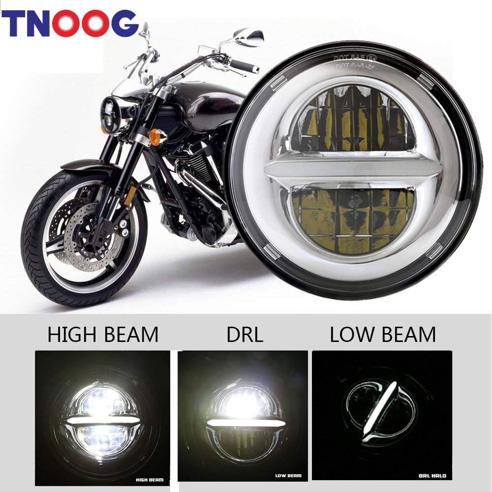 5-3/4 5.75 Inch LED Headlights for Harley Davidson Iron 883 Sportster Street Bob Super Wide Glide Low Rider Indian Scout Triumph mtsooning timing cover and 1 derby cover for harley davidson xlh 883 sportster 1986 2004 xl 883 sportster custom 1998 2008 883l