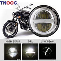 5 3/4 5.75 Inch LED Headlights for Harley Davidson Iron 883 Sportster Street Bob Super Wide Glide Low Rider Indian Scout Triumph