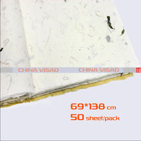 Chinese painting paper, Chinese Rice paper & yunlong xuan paper with Plant fiber,50 sheets/pack 69*138 cm,free shipping