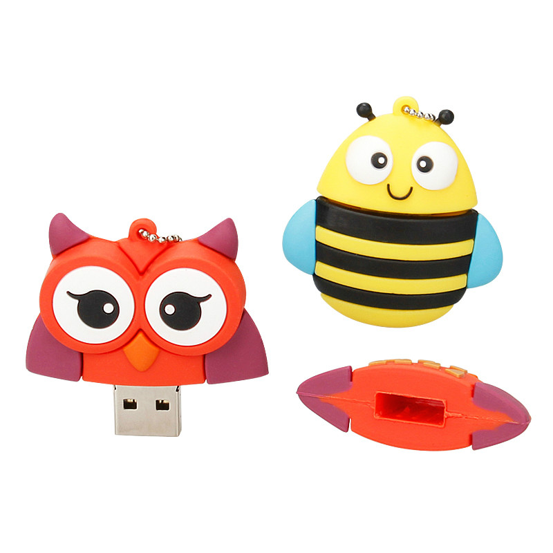 Usb Flash Drive Cute Cartoon Owl Pen Drive 4gb 8gb 16gb 32gb 64gb 128gb Usb Stick High Quality Usb 2.0 Flash Disk Free Shipping-in USB Flash Drives from Computer & Office