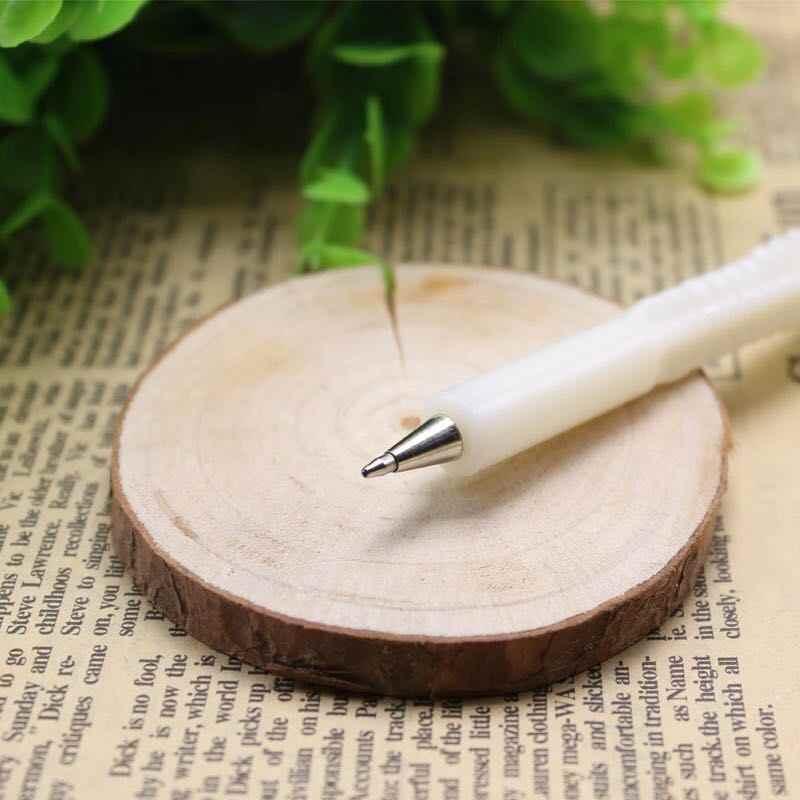 1 pçs/lote Osso Caneta Esferográfica Preta Recarga Material Escolar material de Escritório Em Casa Decoração Caçoa o Presente Recompensa