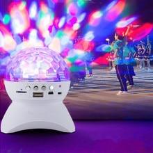 Светодиодный светильник Bluetooth динамик беспроводной Хрустальный шар Диско сабвуфер громкий динамик поддержка FM Танцевальная вечеринка звуковая коробка для телефонов