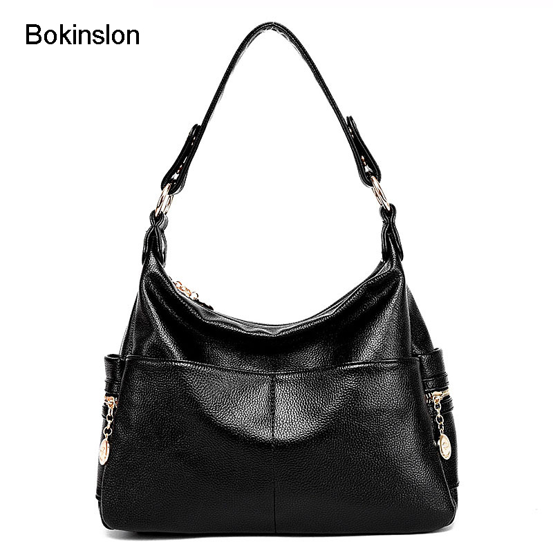 Bokinslon Woman Handbags Bag PU Leather Fashion Women Crossbody Bags Solid Color Casual Lasies Shoulder Bags 2017 casual women handbags chain bag rabbit bunny ears cute shoulder bags crossbody bags pu leather spring young woman handbags