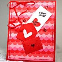 Eastshape Heart Envelope Dies Background Metal Cutting Embossing Stencil DIY Scrapbooking New Crafts Die Template