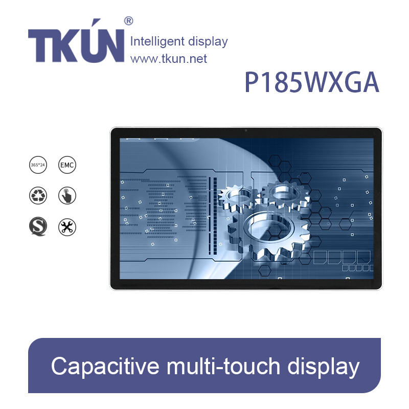 TKUN P185WXGA 18 5 inch capacitive multi touch display touch font b monitor b font industrial