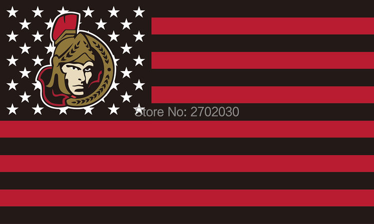 Ottawa Senators Hockey Sports Team Star & Stripe US National Flag 3ft X 5ft Custom Banne ...