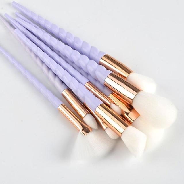 Hot 10pcs Unicorn Makeup Brushes Set Foundation Eyeshadow Base Powder Blush Blending Brushes Makeup Brush Cosmetic Tools 2