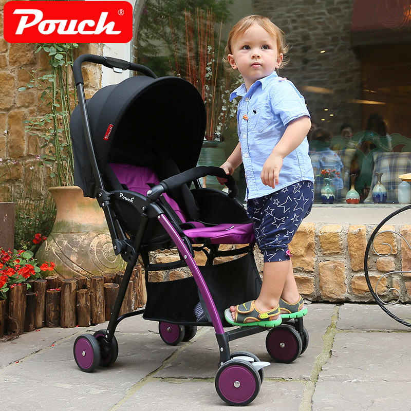 Pouch light baby stroller child umbrella car folding portable two-way baby bb car 2017 pouch new baby stroller super light umbrella baby car folding carry on air plane directly minnie size