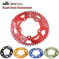 SNAIL 700C Road Bicylcle 110BCD 50 35T Bike 7075 T6 Alloy Oval Chainwheel Kit Ultralight Ellipse