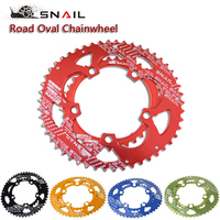 SNAIL 700C Road Bicylcle 110BCD 50 35T Bike 7075 T6 Alloy Oval Chainwheel Kit Ultralight Ellipse