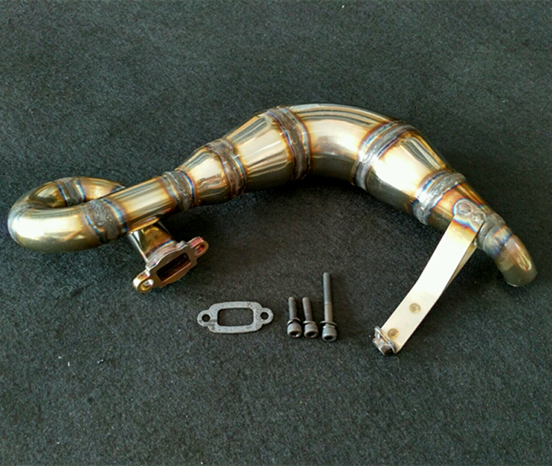Steel Handmade Tune Pipe Exhaust Pipe For Losi Desert Buggy XL DBXL RCMK XCR Rc Car Is Not Included aluminium tuned exhaust pipe for zenoah crrc rcmk petrol marine engine rc gas boat