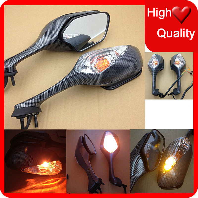 Motorcycle parts LED Turn Signal Racing Rearview Mirror For Honda CBR1000RR 2008 2009 2010 2011 2012 VFR1200 2010 2011 2012