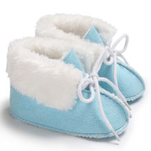 Baby shoes Toddler Girls Boys Baby Soft Booties Pure Color Bandage Winter Snow Boots Infant Newborn cotton Warm Shoes(China)