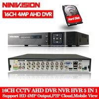 16 Channel AHD DVR 4MP DVR 16CH AHD AHD 5MP NVR Support 2560*1440P 4.0MP Camera CCTV Video Recorder DVR NVR HVR Security System