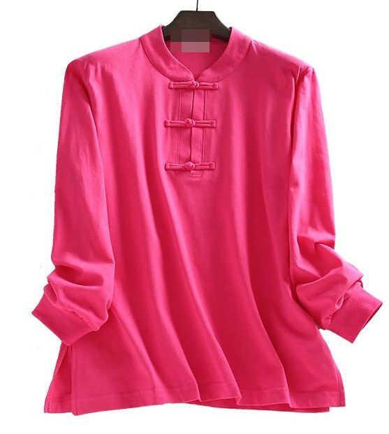 Unisex Lente & Herfst Puur Katoen Uniformen Lag Meditatie Pakken Wing Chun Kung Fu Martial Arts Shirts Geel/Grijs /Rose/Blauw/Zwart