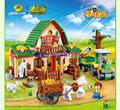 541 unids happy farm building block juguetes 8579 agricultor bloque ladrillos de bloques de construcción de juguetes educativos banbao diy
