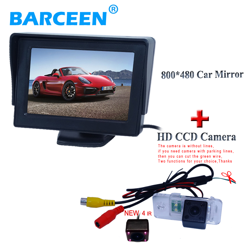 Free shipping car paking monitor 800*480+high image sensor car reversing camera for AUDI A6L 2009~2011 /A4/A3/ Q7/S5