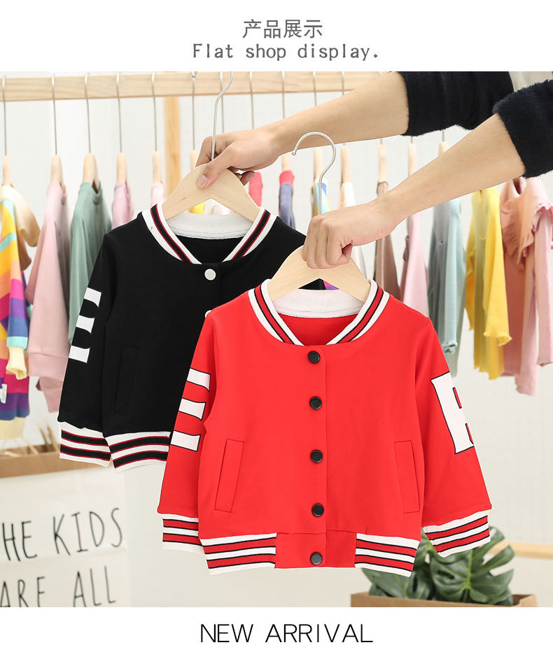 Baby Jacket Baseball-Uniform Foreign-Clothes Spring Autumn-Style And Tide 0-3-Years-Old