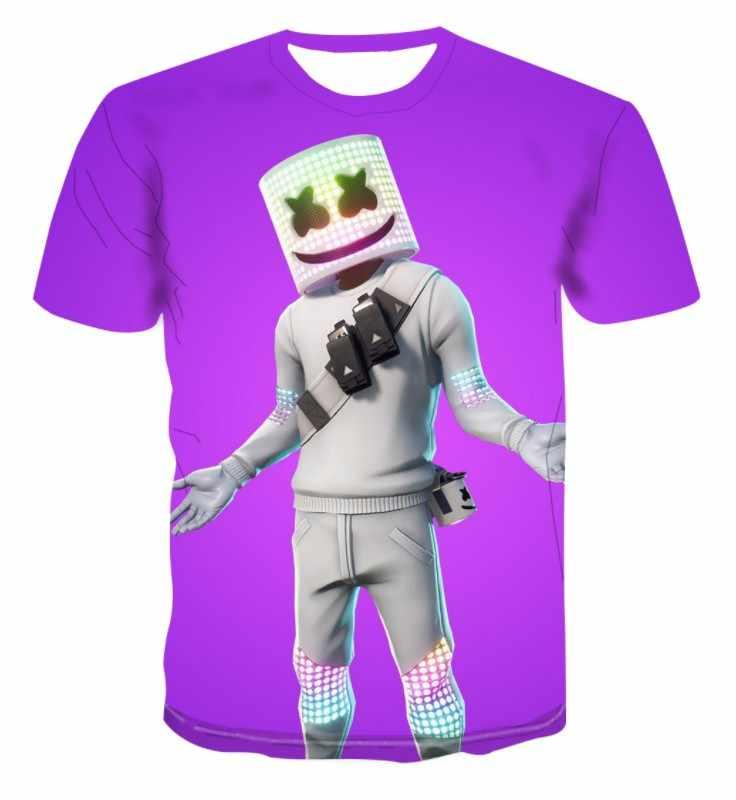 2019 3D футболка Криса Комсток Marshmello Doctom Косплей короткий рукав Летняя классная одежда музыкальный костюм для вечеринки несколько стилей