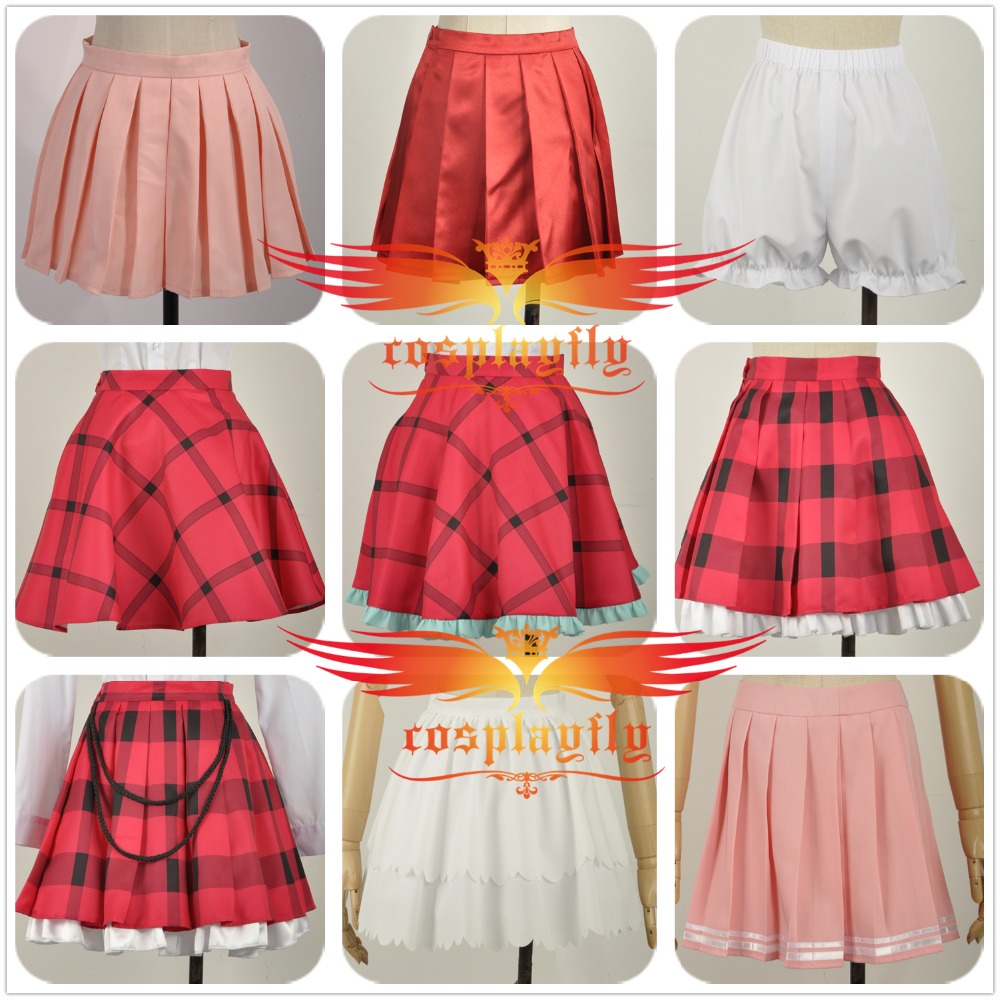LoveLive The Idolmaster Cinderella Girls Dress Uniform Cosplay Costume Custom Lovely Short Dress Skirt/Shorts Clothing Anime Cos