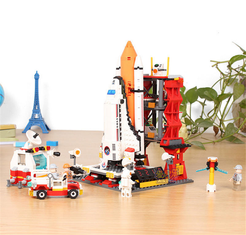 New space ships The Shuttle Launch Center Model Building Block Bricks Toys fit legoings city technic figures kid gift boys gift