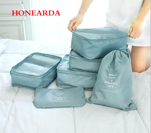 50pcs/lot Six Sets Of New Waterproof Travel Receipt Bags, Suitcases, Clothes Packing Bags And Receipt Kits