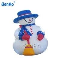 X085 heißer verkauf riesigen 4 mt weihnachten aufblasbare schneemann für weihnachtsdekoration mit luftgebläse