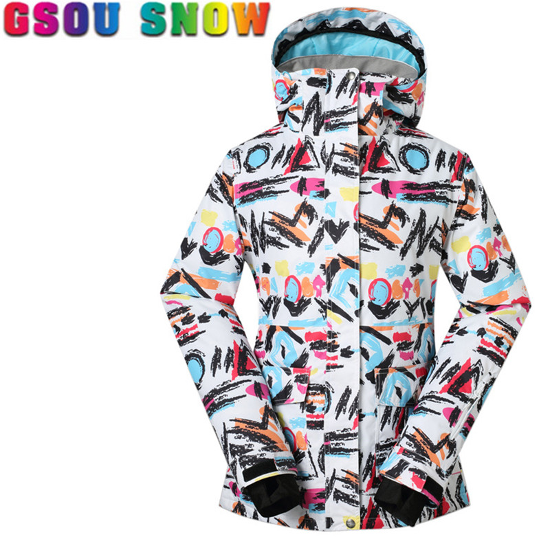 2016 Hot Sale Outerwear Outdoor Waterproof Windproof Jacket Female Coat Thicken Ski Snow Winter Snowboarding Parka For Womens 2016 hot child girl winter outdoor ski snow windproof hiking warm jacket coat new