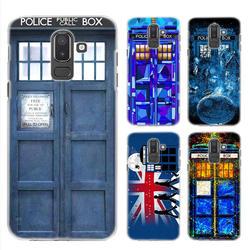 BiNFUL ТАРДИС Box Доктор Кто жесткий прозрачный чехол для Samsung Galaxy A6 A8 плюс 2018 J4 J6 J8 2018