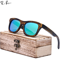 RTBOFY Bamboo Sunglasses Men Wooden Sunglasses polarized Brand Designer Mirror Original Wood Sun Glasses Oculos zonnebril ZE03