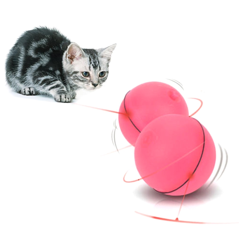 Funny Pet Dog Cat LED Light Magic Ball Teaser Exercise Interactive Automatic Toy