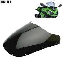 Black For Kawasaki Ninja ZX 9R ZX 9R ZX9R 1994 1995 1996 1997 Motorcycle Windshield Windscreen Shield Double bubble NINJA ZX 9R