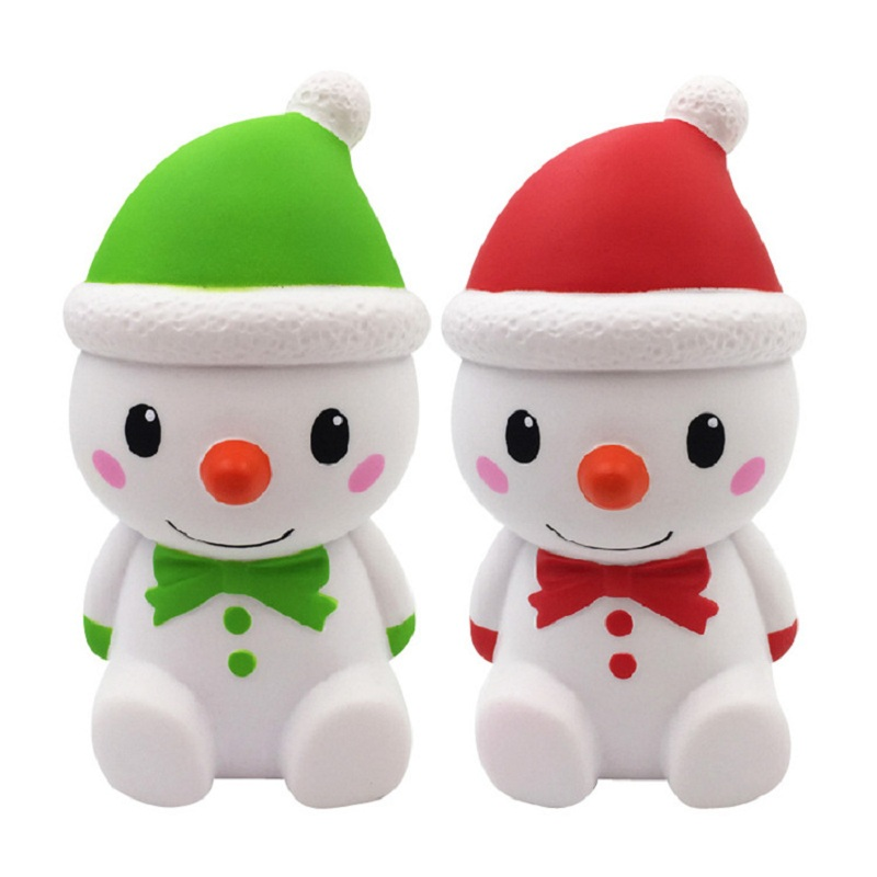 Jumbo Kawaii Christmas Snowman Squishy Slow Rising PU Simulation Stress Relief Squeeze Toys for Baby Kids Xmas Gift 15*7.5CM fun autism toys hamster squishy decor slow rising kid toy squeeze relieve anxiet gift toys for children pu simulation hamster