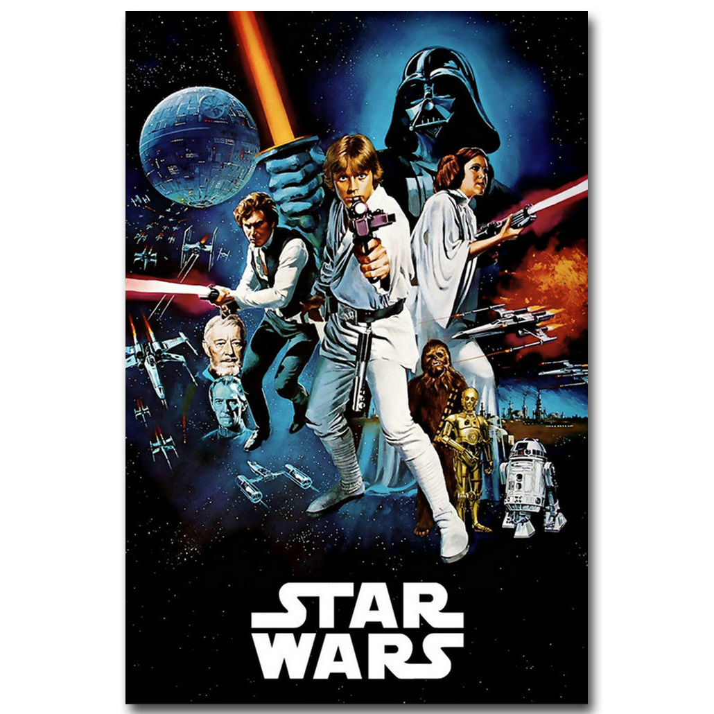 Darth Vader - Star Wars Episode IV - A New Hope Art Silk Fabric Poster Print 13x20 24x36 Movie Picture for Room Wall Decor 059 image