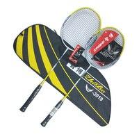 1 пара, профессиональные ракетки для бадминтона из углеродного волокна, легкие спортивные ракетки с сумкой для начинающих