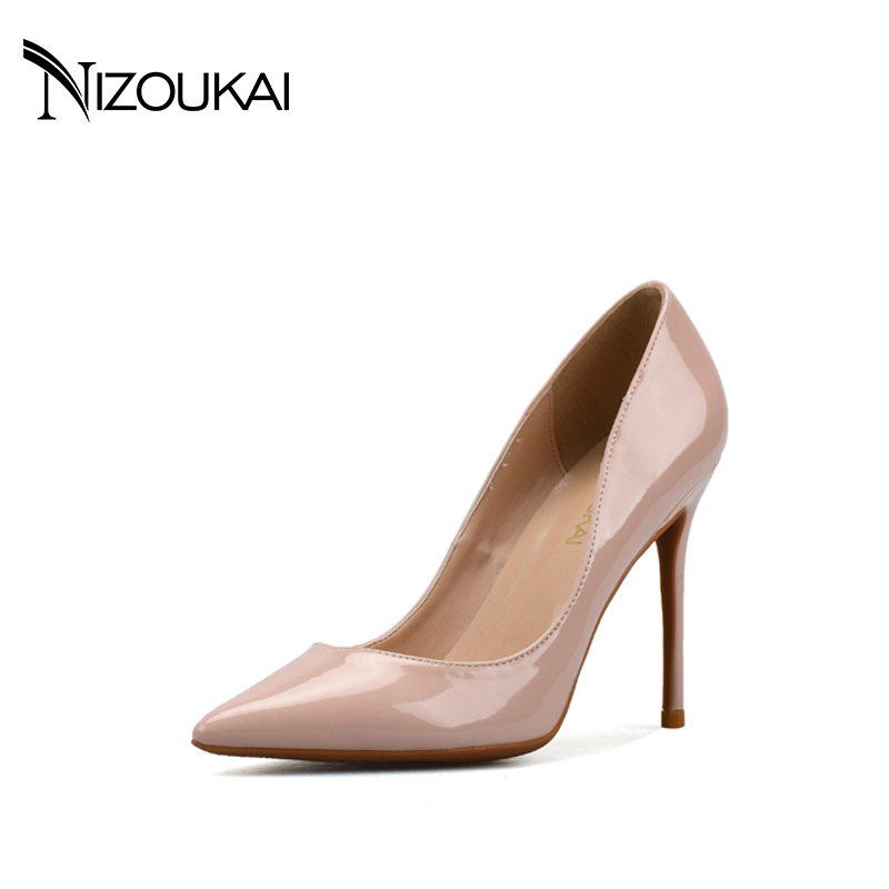 New Sexy Women Pumps Fashion Pointed Toe Thin High Heel Pumps Stylish 4 Colors Shoes Woman Big Size EUR 35-44 d04-q10 small size high heels sexy pumps 33 4 34 thin abnormal 2017 big 12 44 multi colored leopard shoes women pointed toe evening
