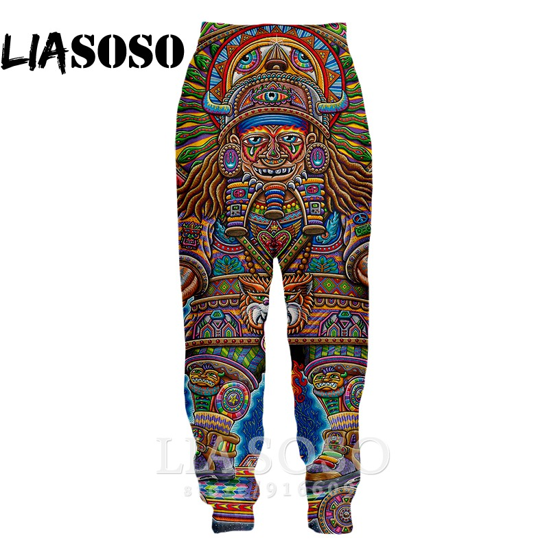 3d Print Men Women Full Length Hip Hop Harajuku Psychedelic Sweatpants Top Casual Tattoo Winter Pants Anime Jogger Trousers E713