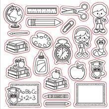 KLJUYP  Clear Stamps Scrapbook Paper Craft Clear stamp scrapbooking School 506