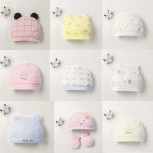 Детская шапка для 0-12 месяцев, хлопок, унисекс, мягкая милая детская шапка, шапка для новорожденных мальчиков и девочек на все сезоны, Мультяшные Шапки для малышей
