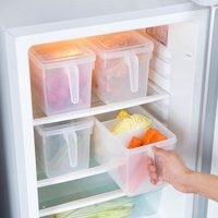 Refrigerator with cover storage box compartment storage box set kitchen plastic transparent storage food box wx10311523
