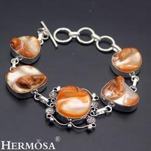 Hermosa joyería fina de moda único hm563 biwa perlas de 925 pulseras de plata de ley 8 pulgadas ajustable