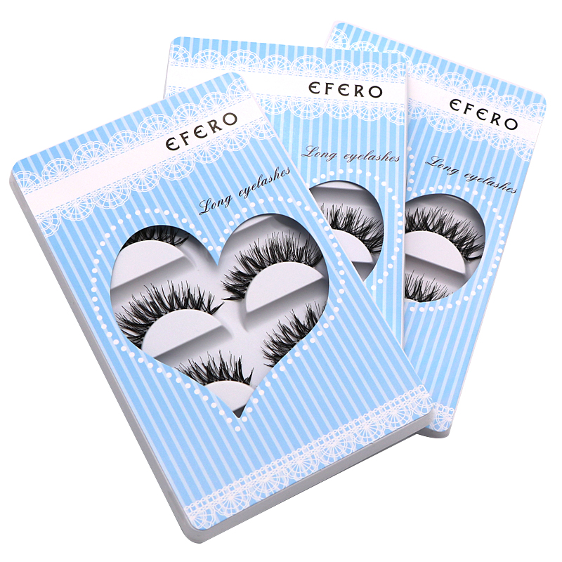 30Pair efero Transparent Natural Long Eyelashes For Building Eyelash Extensions Wimpern Synthetic Hair Lash Extension Tools