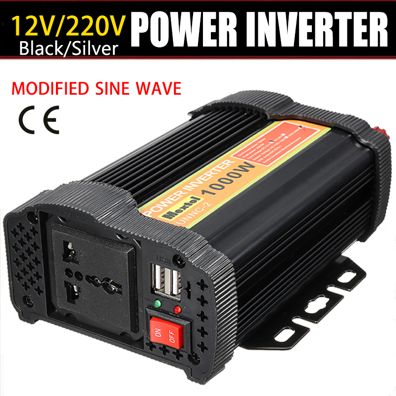 Inverter 1000W 12 V to AC 220 Volt Auto Max 2000 Watt Modified Sine Wave Converter Car Charge Converter Transformer 2 USB 20etf12 to 220 2